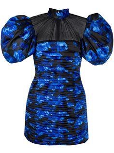 Richard Quinn коктейльное платье с цветочным принтом и вставкой