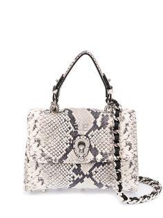 Ermanno Scervino сумка с тиснением под кожу змеи и логотипом