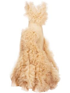 Loulou декорированное вечернее платье из тюля