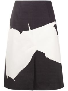 Maison Margiela юбка А-силуэта с абстрактным принтом