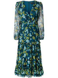 Saloni платье с длинными рукавами и цветочным принтом