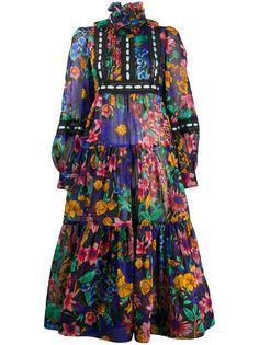 Marc Jacobs платье миди с цветочным принтом