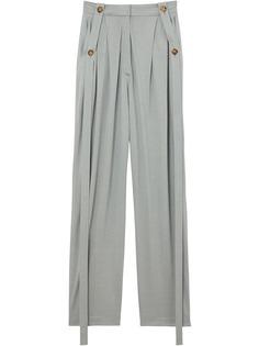 Burberry брюки строгого кроя с завышенной талией