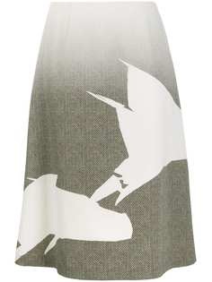 Maison Margiela юбка миди А-силуэта с эффектом градиента