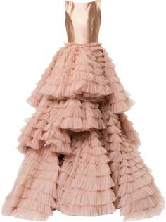 Isabel Sanchis многослойное вечернее платье