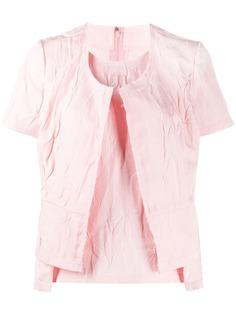 Comme Des Garçons многослойная футболка с необработанным краем