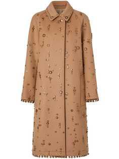 Burberry декорированное пальто
