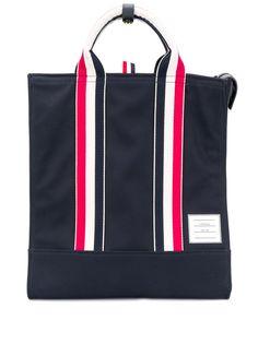 Thom Browne полосатая сумка-тоут