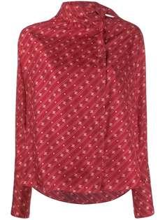 Fendi блузка FF Karligraphy с воротником-платком