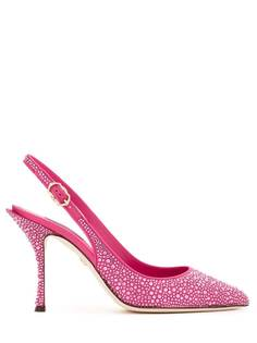 Dolce & Gabbana туфли с ремешком на пятке и кристаллами