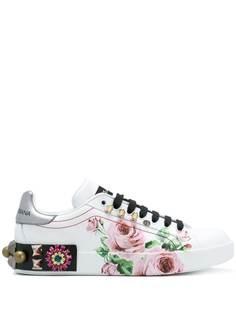 Dolce & Gabbana кроссовки с принтом