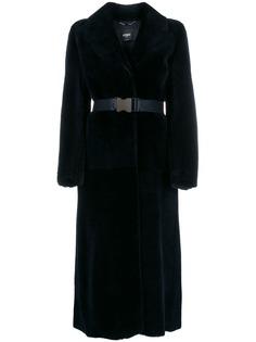 Fendi пальто с запахом и поясом