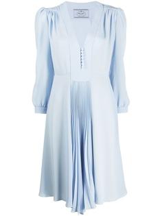 Prada платье миди с плиссировкой