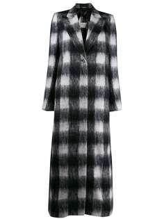 Maison Margiela длинное пальто в клетку
