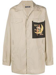 Dolce & Gabbana рубашка с нашивкой Pin-Up