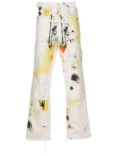 Off-White брюки Futura с абстрактным принтом