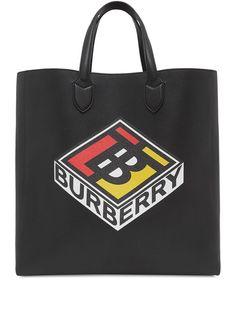 Burberry большая сумка-тоут с логотипом