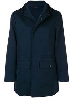 Loro Piana приталенное пальто с капюшоном