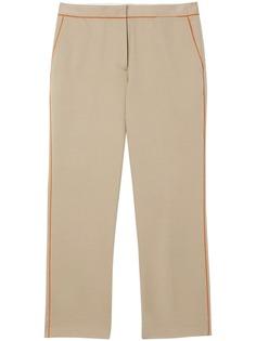 Burberry укороченные брюки с контрастными вставками