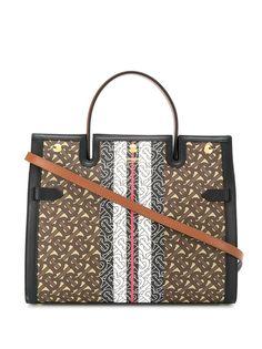 Burberry сумка-тоут с монограммой и полосками