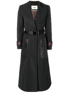Fendi пальто с поясом