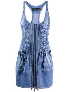Dsquared2 джинсовое платье мини