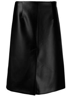 Maison Margiela юбка А-силуэта из искусственной кожи
