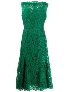 Dolce & Gabbana платье без рукавов из цветочного кружева