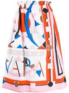 Emilio Pucci юбка миди Vivara с принтом