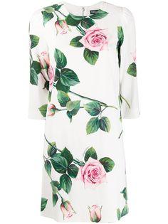 Dolce & Gabbana платье-трапеция с принтом