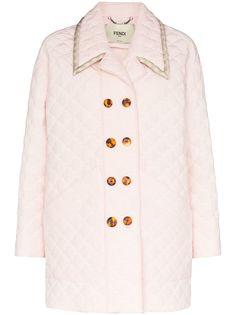 Fendi стеганое двубортное пальто
