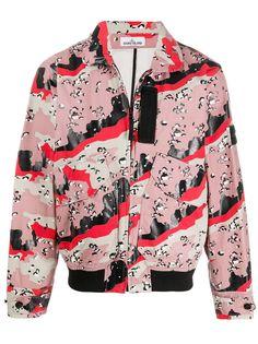 Stone Island куртка с абстрактным принтом