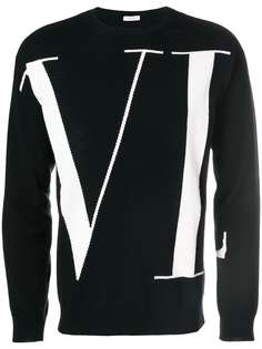 Valentino свитер с узором логотипа