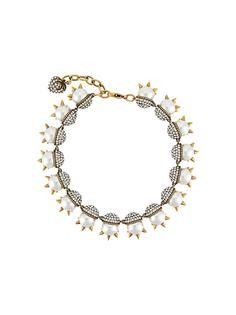 Gucci жемчужное ожерелье с шипами