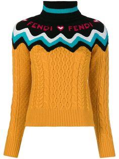 Fendi трикотажный свитер с логотипом