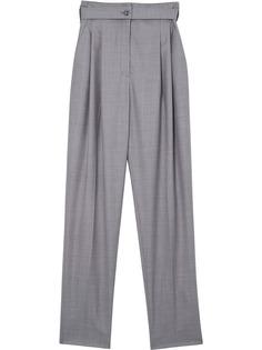 Burberry брюки строгого кроя с вырезом