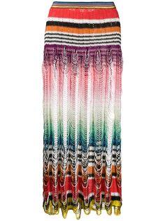 Missoni Mare трикотажная юбка в стиле колор-блок с вырезами