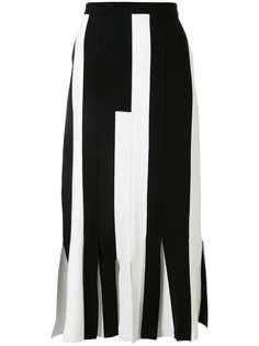 Ports 1961 юбка с баской и полосками в стиле колор-блок