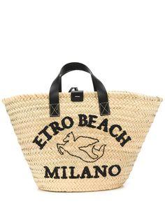Etro пляжная сумка-тоут с вышивкой