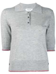 Thom Browne трикотажная кашемировая рубашка-поло