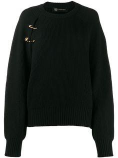 Versace джемпер с декоративными булавками