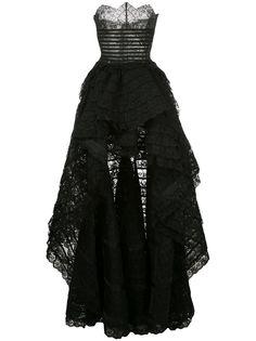 Oscar de la Renta кружевное вечернее платье без бретелей