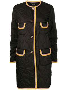 Ermanno Scervino стеганое однобортное пальто