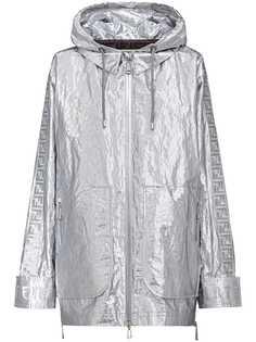 Fendi пальто оверсайз с принтом