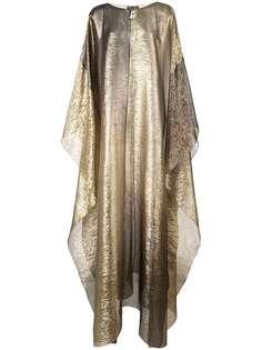 Oscar de la Renta вечернее платье-кафтан с V-образным вырезом