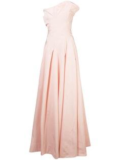 Oscar de la Renta расклешенное вечернее платье без бретелей