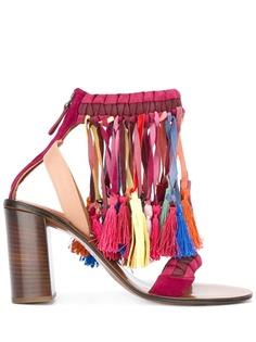 Chloé босоножки с разноцветными кисточками