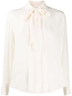 Chloé блузка с бантом
