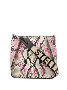Stella McCartney сумка на плечо Stella с логотипом и тиснением под кожу змеи