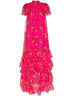 Erdem вечернее платье Aurelia из тюля с цветочным принтом